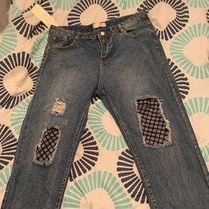 Denim - Blue blue jean boyfriend jeans never worn